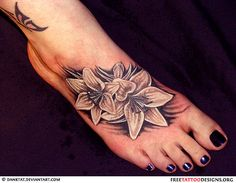 Flowers tattoo on foot but maybe for my shoulder