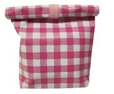 Lunchbag pink Karo de kids&co sur DaWanda.com