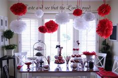 Red Black and White Dessert Table Inspiration