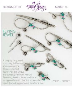 March 2014 Flexi Clip and Bobby Pins of the Month - Flying Jewel! http://lillarose.biz/rrobinson