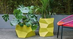 Lightweight, robust and strong, the Faceted tall white fibreglass planter has an unusual yet striking faceted surface, while its colour provides a dramatic backdrop for greenery. Buy now at Habitat UK. Copper Planters, Concrete Planters, Garden Planters, Planter Pots, Concrete Bench, Garden Furniture Design, Garden Design, Garden Table And Chairs, Fiberglass Planters