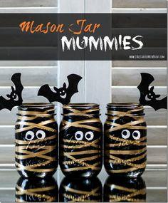 Mason Jar Mymmies Halloween Craft for Kids