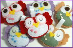 Custom Set Of 2 Mini Owl Plushies / Eco Friendly by vivikas, $16.00