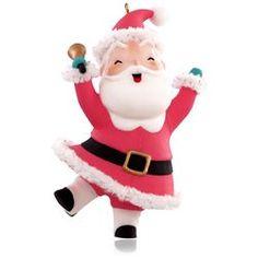 Ringing in Christmas Santa Ornament,