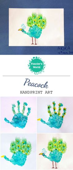 Directions for making Handprint Peacock!