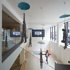 """a London-based advertising agency that counts Nike, Disney, and Ted Baker as clients uses """"Hotel Lobby Vibes"""" and Mary Poppins Enliven This New Office"""