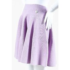 Pre-Owned Kenzo Nwt $350 Lavender Textured Woven Knit Pleated Flare... ($210) ❤ liked on Polyvore featuring skirts, purple, long purple skirt, knit maxi skirt, pleated maxi skirt, pleated skirt and light purple maxi skirt