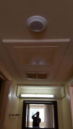 Spare bedroom hallway ceiling