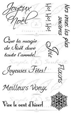 Étampes Polymères Souhait en Français