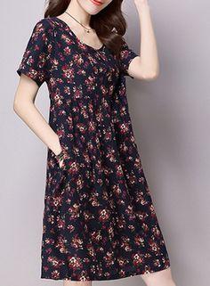 women-s-vintage-floral-print-cotton-linen-dress