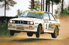 """""""It goes sideways pretty much everywhere."""" - Ari Vatanen driving BMW in 1000 Lakes Rally Rally Drivers, Rally Car, Sport Cars, Race Cars, Wheel In The Sky, Bmw E30 M3, Bmw Cars, Car Photography, Car Manufacturers"""