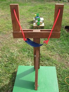 "We were walking through Walmart when we saw some Angry Bird stuffed animal toys for sale. My wife and I looked at each other and said ""we need to build a life sized Angry Birds Game"". So, we bought some stuffed Angry Birds, some wood, various hardware, and rubber tubing and built a life sized Angry Bird Game."