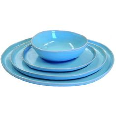 Alex Marshall Studios Urban Dinner Set Aqua By ($50) ❤ liked on Polyvore featuring home, kitchen & dining, bowls and alex marshall studios