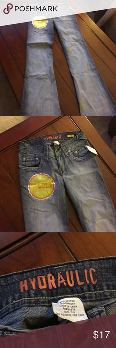Jeans by hydraulic This is a pair of  faded jean by hydraulic  in a size 7 they are from Charlotte Russe Hydraulic Jeans Flare & Wide Leg