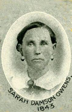 Sarah (Damron) Owens  Pioneer of 1843  w/o Thomas Owens