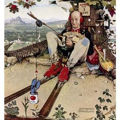 April fools day. Can you find errors? Norman Rockwell 1945