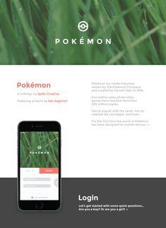 Fantástico concepto de app que encantará a los fans de Pokémon