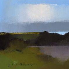 "Irma Cerese, ""Hay-On-Wye 1"" acrylic on canvas, 24"" x 24"" #abstractart"