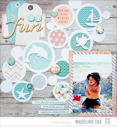 Surf, sand, and sea, what's not to love?! This week our design team will be sharing all things beach-themed and we're excited to get started with a pair of stunning layouts by Madeline Fox. Check it out on out blog!