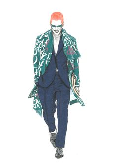 The Riddler wearing Burberry Prorsum Spring 2015 Collection