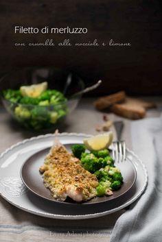 #Secondo: filetto di #merluzzo con crumble alle nocciole