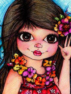 Pop Art Minis: Flowers and Fun-shine Smiles...Aloha Friends!
