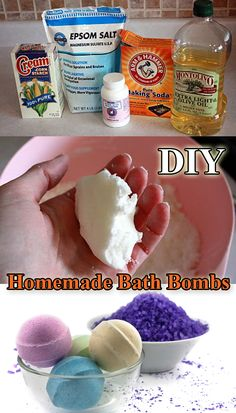 DIY Homemade Bath Bombs #HomemadeProducts