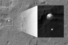 NASA's Curiosity rover caught in the act of landing on Mars