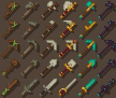 Slowly working on textures, tools are done. Minecraft Addons, Minecraft Pack, Minecraft Sword, Minecraft Redstone, Minecraft Blueprints, Minecraft Projects, Minecraft Houses, Minecraft Images, Minecraft Drawings