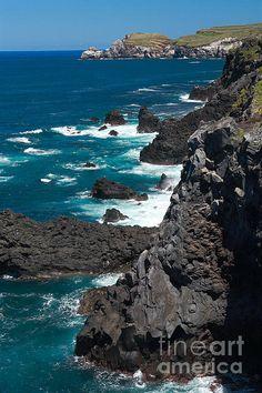 coastline near Ribeira Grade, Sao Miguel Island, northeastern Azores Islands, Portugal