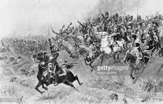 Brigade Commander JeanBaptiste Bessieres leads the heavy cavalry of the Consular Guard of the French Army of the Republic in a charge against the...