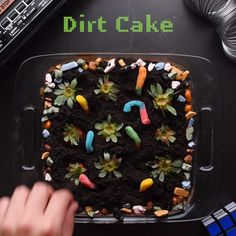So Yummy. Bite-sized food videos for you and your kids to enjoy! Dirt Cake, Baking Recipes, Cake Recipes, Dessert Recipes, Desserts, Yummy Snacks, Yummy Food, Baking With Kids, Tasty Dishes