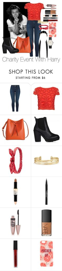 """""""Charity Event With Harry Styles"""" by jenadamss ❤ liked on Polyvore featuring J Brand, Alice + Olivia, Lodis, Charlotte Russe, Stella & Dot, NYX, Trish McEvoy, Maybelline, NARS Cosmetics and Smashbox"""