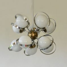 Sputnik Molecule hanging lamp from the sixties by unknown designer for unknown producer