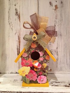 SHABBY CHIC Springtime Flowers Stripes by BirdhouseGiftGallery, $20.00