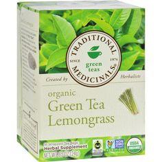 Traditional Medicinals Organic Green Tea Ginger Tea, 16 Tea Bags (Pack of Caffeine In Tea, Organic Green Tea, Peppermint Tea, Ginger Tea, Lemon Grass, Healthy Drinks, Detox Drinks, Herbalism, Traditional