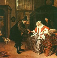 "Jan Steen Languishing love"" 1660"