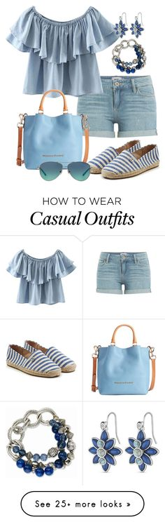 """Casual de Verão"" by alice-fortuna on Polyvore featuring Paige Denim, Chicnova Fashion, Dooney & Bourke, MICHAEL Michael Kors and Tiffany & Co."
