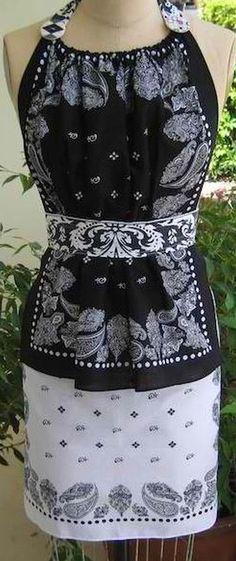 Bandana Apron | 14 DIY Bandana Design Projects, see more at http://diyready.com/14-diy-bandana-design-ideas