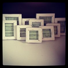 DIY 10 shabby chic distressed sheet music frames  - @allaboutthecozy- #webstagram