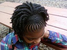 This is such a cute braid twist 'do.  natural hair