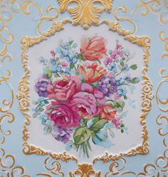 floral rococo painting Jonny Petros