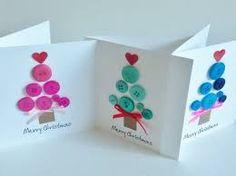 「クリスマスカード 手作り ボタン」の画像検索結果