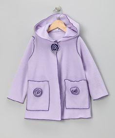 Lilac Flower Fleece Jacket - Infant, Toddler & Girls