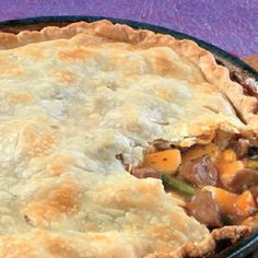 Easy Beef Pot Pie Here's a great idea for leftover beef and veggies.mix them with a creamy mushroom gravy and tuck them into a flaky, refrigerated pie crust. Easy never tasted so good! Easy Pie Recipes, Beef Recipes, Cooking Recipes, Recipies, Lasagna Recipes, Cod Recipes, Fudge Recipes, Dinner Recipes, Chicken Recipes
