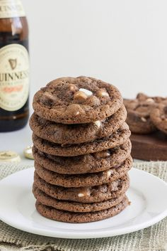 Triple Chocolate Guinness Cookies by Traceys Culinary Adventures, via Flickr