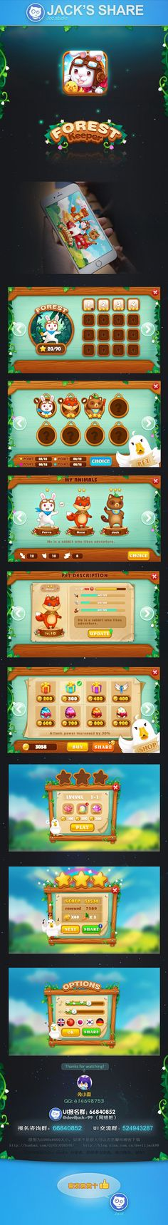 Jack - on Behance Kawaii Games, 2d Game Art, Game Gui, I Love Games, Game Props, Game Interface, Ui Design Inspiration, Mobile Game, Game Character