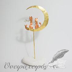 Ρομαντική σκηνή με γάτες που κάθονται στο φεγγάρι Party Ideas, Mirror, Wedding, Decor, Casamento, Decoration, Decorating, Mirrors, Weddings