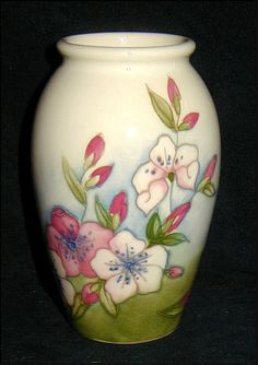 Moorcroft Vase Spring Blossoms 4 inches Excellent Condition!