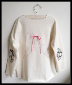 Girls Top - Girls Shirt - Girls Sweatshirt - French Petit Ange (Little Angel) - Toddler and Girls sizes from 2T to 8Y via Etsy.